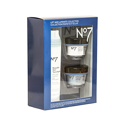 No7 Lift & Luminate Collection   No7 Beautiful Skin - Hot Cloth Cleanser (All Skin Types) 6.7 Fl Oz   No7 Lift & Luminate - Day Cream (SPF 15) 1.69 Fl Oz   No7 Lift & Luminate - Night Cream 1.6 Fl Oz -