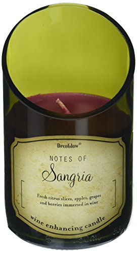 DecoFlair CDL6458 Wine Bottle Candle, Sangria