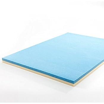 this item zinus 4 inch gel memory foam mattress topper queen
