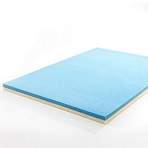 zinus 4 inch gel memory foam mattress topper queen