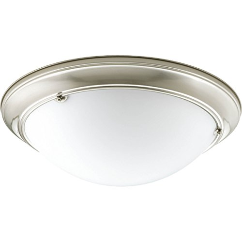 Progress Lighting P7325-09WB Traditional Three Light Close-to-Ceiling from Eclipse Collection in Pwt, Nckl, B/S, Slvr. Finish, Brushed Nickel