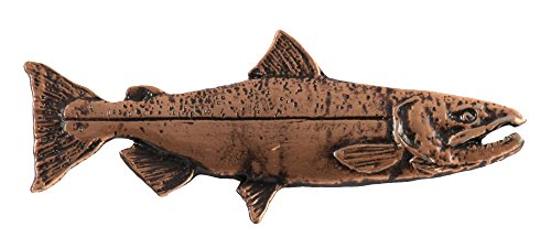 King Chinook Salmon Fish Spawning Copper Plated Rare Earth Refrigerator Magnet Gift, FC044M Copper River King Salmon