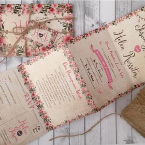 Personalised Wedding Invitations with Twine, Tag & Envelopes ...