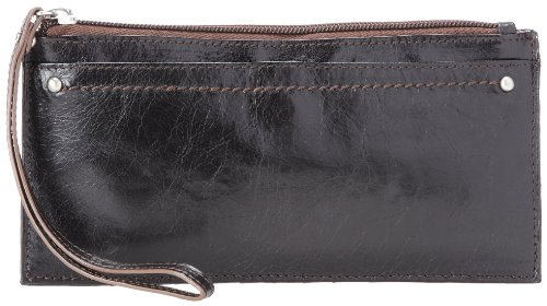- Hobo Kimi Cell Phone Wallet Black Vintage Leather One Size