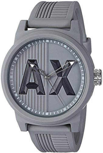 Armani Exchange Men's AX1452 ATLC Grey Silicone - Armani For Men