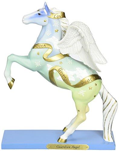 "Enesco Trail of Painted Ponies ""Guardian Angel"" Stone Resin Figurine, 8.23"""
