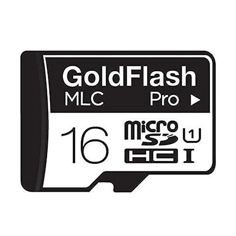 GoldFlash micro SDHC CLASS10 UHS-I Pro MLC (16GB) (Micro Sd 64 Gb 60 Mb)