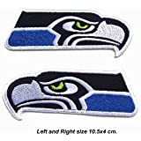 Seattle Seahawks Logo Left and Right Embroidered Iron Patches 2 Pieces.
