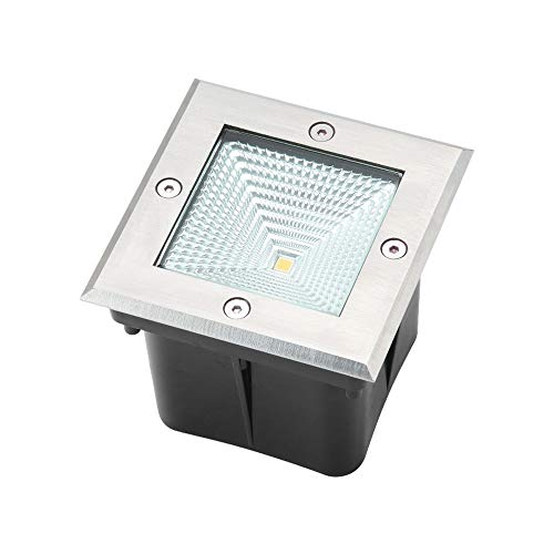 Pinjeer 4W/6W Led Square IP67 Waterproof Landscape Underground Light Modern Simple Stainless Steel Outdoor Anti Rust In-ground Light Path Way Garden Lawn Balcony Decorative Buried Disk Lamp