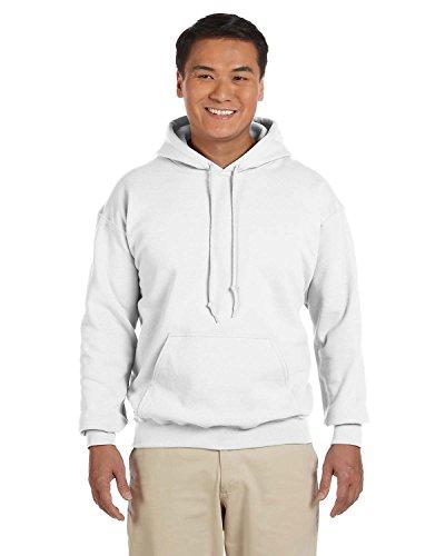 Gildan G125 DryBlend Adult Hooded Sweatshirt, White, ()