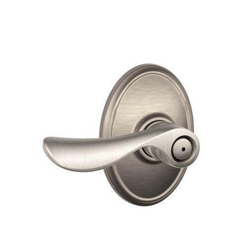- Schlage F40CHP619WKF Wakefield Collection Champagne Privacy Lever, Satin Nickel