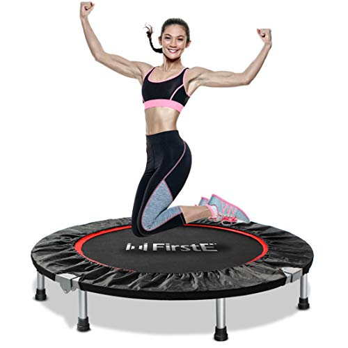 FirstE-40-Portable-Fitness-Trampolines-Foldable-Mini-Trampoline-for-Adults-and-Kids-with-Safety-Anti-Skid-Pads-Exercise-Rebounder-Recreational-Jump-Trampoline-for-IndoorOutdoor-Max-Load-330lbs