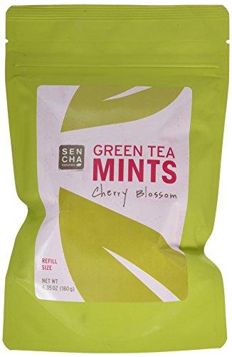 Sencha Naturals Refill Bag Green Tea Mints, Cherry Blossom, 6.3 Ounce