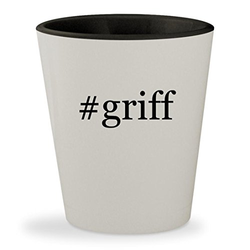 #griff - Hashtag White Outer & Black Inner Ceramic 1.5oz Shot Glass