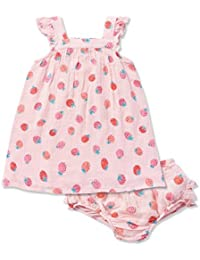 Strawberries Muslin Sundress & Diaper Cover