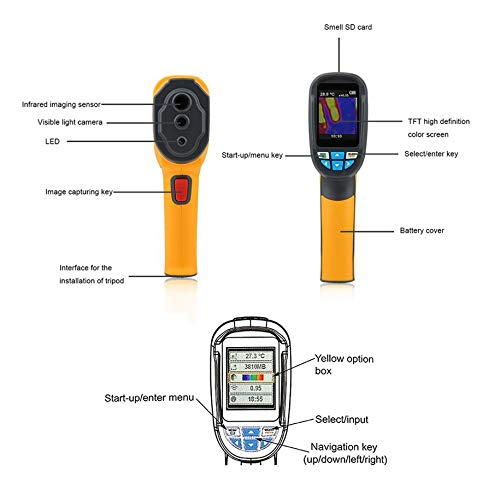 Thermal Infrared Image, MD4080 Professional Portable Underground Metal Detector Handheld Treasure Hunter Gold Digger Finder Pinpoint Function