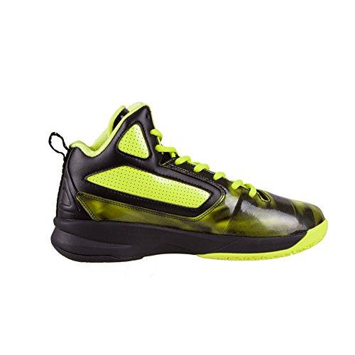 Picco Mens Fibas Serie Aquila Scarpe Da Basket Fluorescente Giallo / Nero