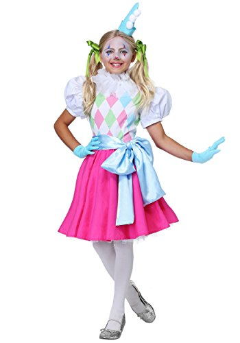 Clown Cotton Candy - Cotton Candy Clown Girls Costume - XS