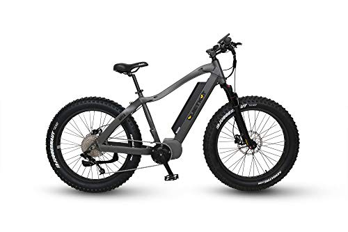 QuietKat 2019 Apex 1000W Electric Bike for Backcountry, Hunting, Fishing - Bafang Mid Drive Motor, 9-Speed Gear, Hydraulic Disc Brake (Charcoal, 17