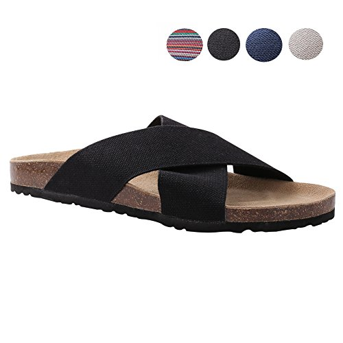 VVFamily Women Elastic Sandal Slipper Casual Sandalias House Shoes Light Weight Comfort Wide Footbed Slip on Sandle by