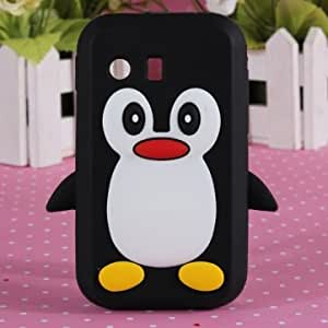 Penguin TPU Silicone Soft Rubber Case For Samsung Galaxy Y S5360 --- Color:Red