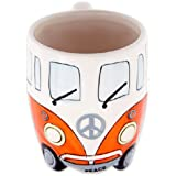 Volkswagen - Orange Ceramic Shaped Coffee Mug / Cup (VW Camper Van / Bully / T1)