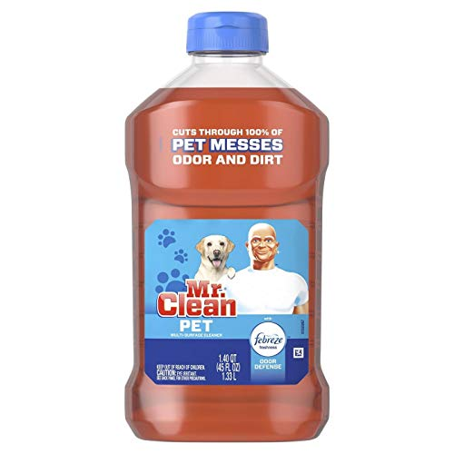 Mr. Clean All Purpose Multi-Surface Pet Liquid Cleaner with Febreze Odor Defense | Has Odor Converters | Eliminates Odor – 45 Ounce Bottle (Pack of 2)