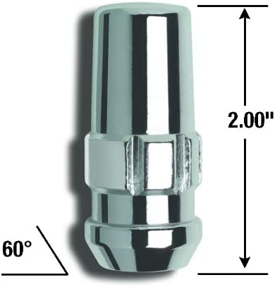 Gorilla Automotive 76681N Duplex Acorn Wheel Locks Pack of 4 1//2 Thread Size