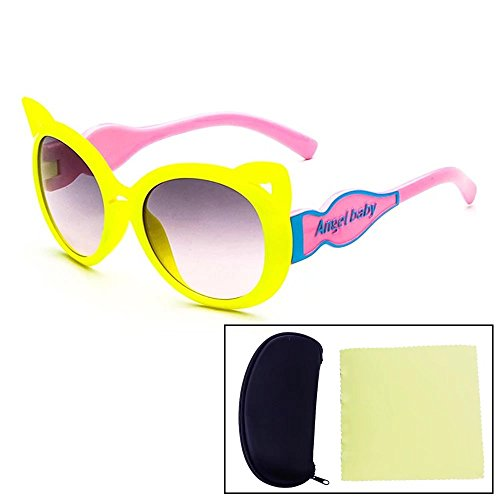 Sealive Fashion Kids Sunglasses Cute Fox Frame Eyeglasses Eyewear For Boys Girls Party Gift,With a Sunglasses Hard Case Protector and Microfiber Cleaning Cloth,Outdoor Use,Random - Frames Sunoptic