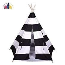 Pericross Large Children Teepee Tent Kids Play Tent Indian Tent 5 poles for Kid Indoor Play Ground Play House Tents Kid Outdoor Game Garden Play with Bottom