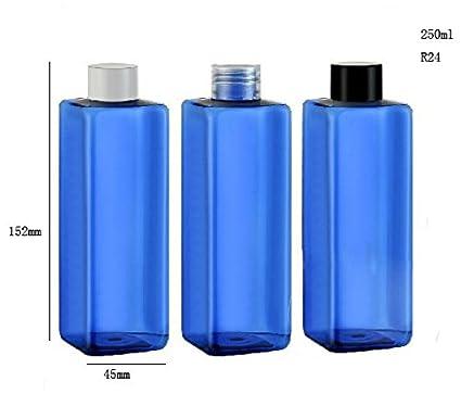 20pcs/lot DIY 250 ml cuadrado azul botella de plástico, 250 cc crema botella