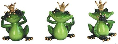 StealStreet SS-G-61170, See, Speak, Hear No Evil King Frog Set of 3