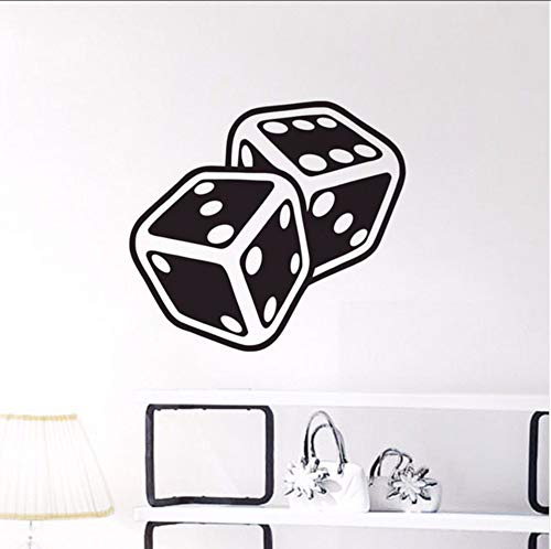 (LSFHB Two Dices Wall Stickers Gambling Casino Game Pattern Wall Decals Design)