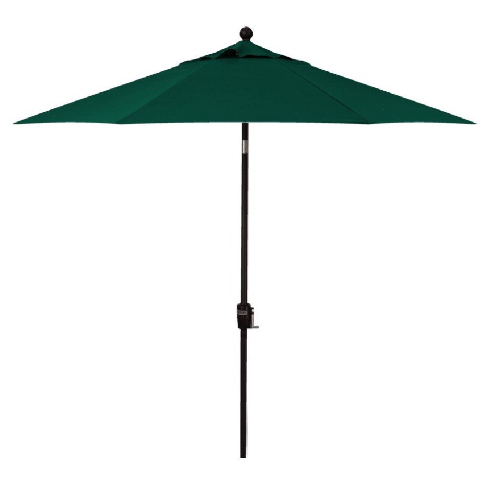 11-Foot Treasure Garden (Model 812) Deluxe Auto-Tilt Market Umbrella with Bronze Frame and Obravia2 Fabric: Forest Green
