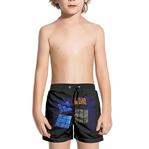 Ouxioaz Boys' Swim Trunk Love Galaxy Cubes Beach Board Shorts by Ouxioaz