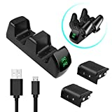 Xbox Controller Charger, Cingk High Speed Dual Charging Station Dock for Xbox One/One X/One S with 2 x Rechargeable Battery Packs, 3.9foot Micro USB Charging Cable Included Review