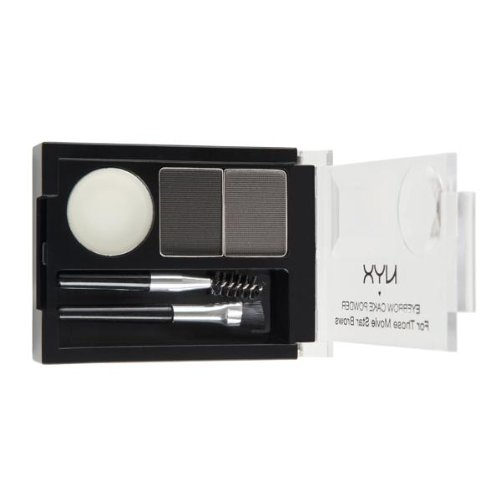 NYX Eyebrow Cake Powder, Black/Gray (Best Eyeshadow For Gray Eyes)