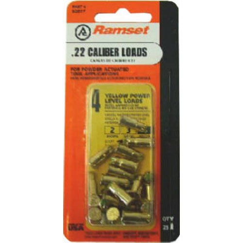 ITW BRANDS 50077 .22 42CW Fastener  Load, Yellow, 25-Pack
