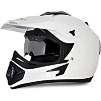 Vega Off Road OR-D/V-W_L Full Face Helmet (White, L)