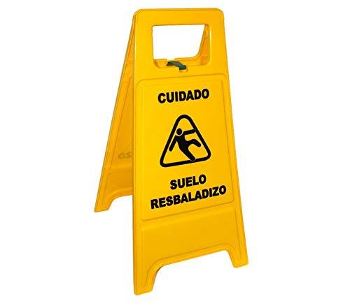 Cartel Plegable de plástico Amarillo Cuidado Suelo ...