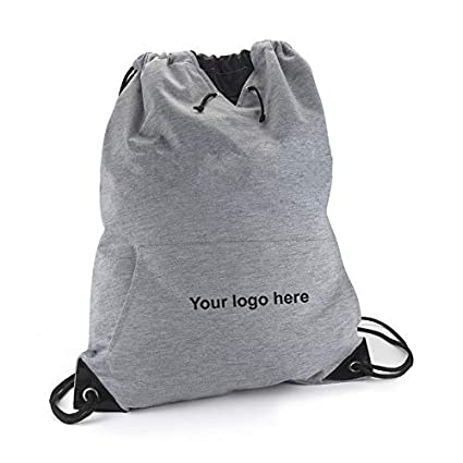 3f25a8f6e7746 Amazon.com: Jersey Sweatshirt Drawstring Bag - Gray Jersey Style ...