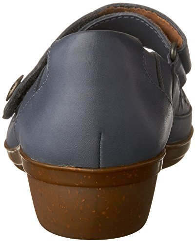 Clarks Womens Everlay Bai Mary Jane In Pelle Blu Piatta