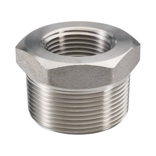 316/316L Forged Stainless Steel Pipe Fitting, Bushing, Class 3000, 1 NPT Male X 1/2 Female