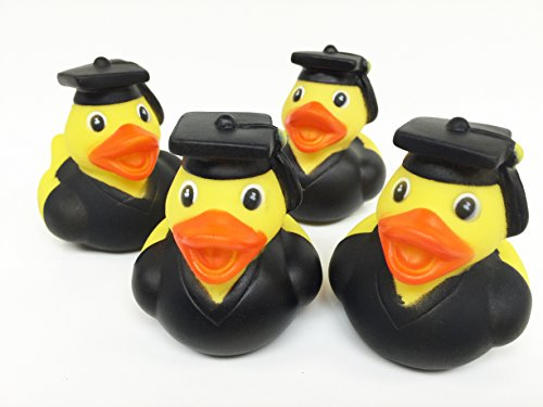 GiftExpress 12 pcs Graduation Rubber Duckies/Graduate Rubber Ducks/Graduation Party Decoration/Graduation Party Favor/Graduation Gift (Graduate Rubber Duck)