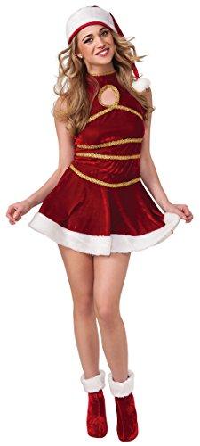 [Secret Wishes Santa's Helper Costume, Multicolor, Large] (Mrs Santa Halloween Costume)