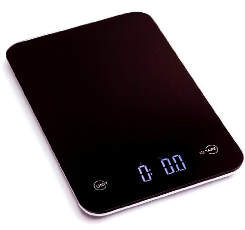 Ozeri Touch Professional Digital Kitchen Scale (12 lbs Edition), Tempered Glass in (Glass Kitchen Scale)