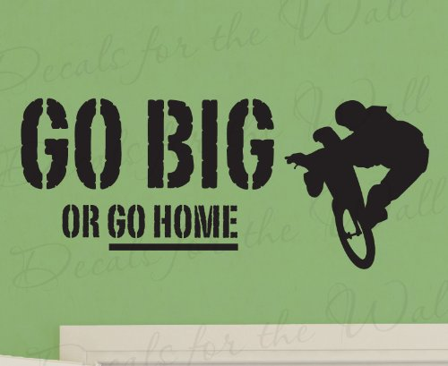 Go Big or Go Home - Boy Mountain Bike BMX Biking Sports T...