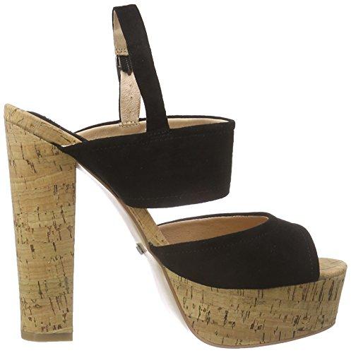 BUFFALO S196a-9c S0002a Imi Suede - Sandalias con plataforma Mujer Negro - negro (negro 01)