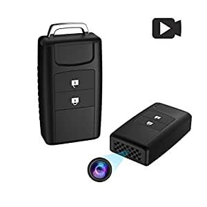 Hidden Spy Camera Keychain, Conbrov 720P HD Mini Body Camera Video Recorder with Motion Detection and Night Vision, Built-in 800mAH Battery Supports 1 Year Recording Standby Time (No Audio)