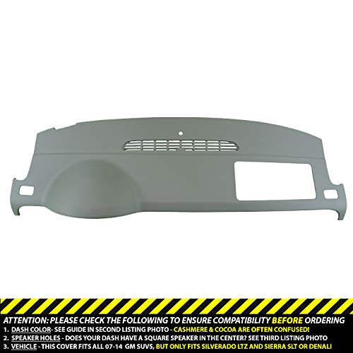 DashSkin Molded Dash Cover Compatible 07-14 GM SUVs w/o Dash Speaker in Dark Titanium ()